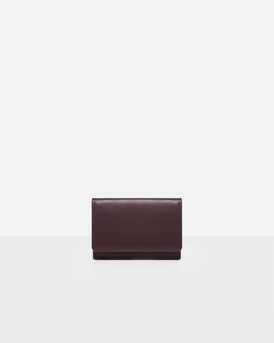 ROH Flap card wallet objet Burgundy