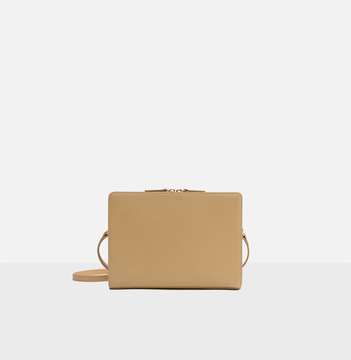 Square medium shoulder bag Light ocher