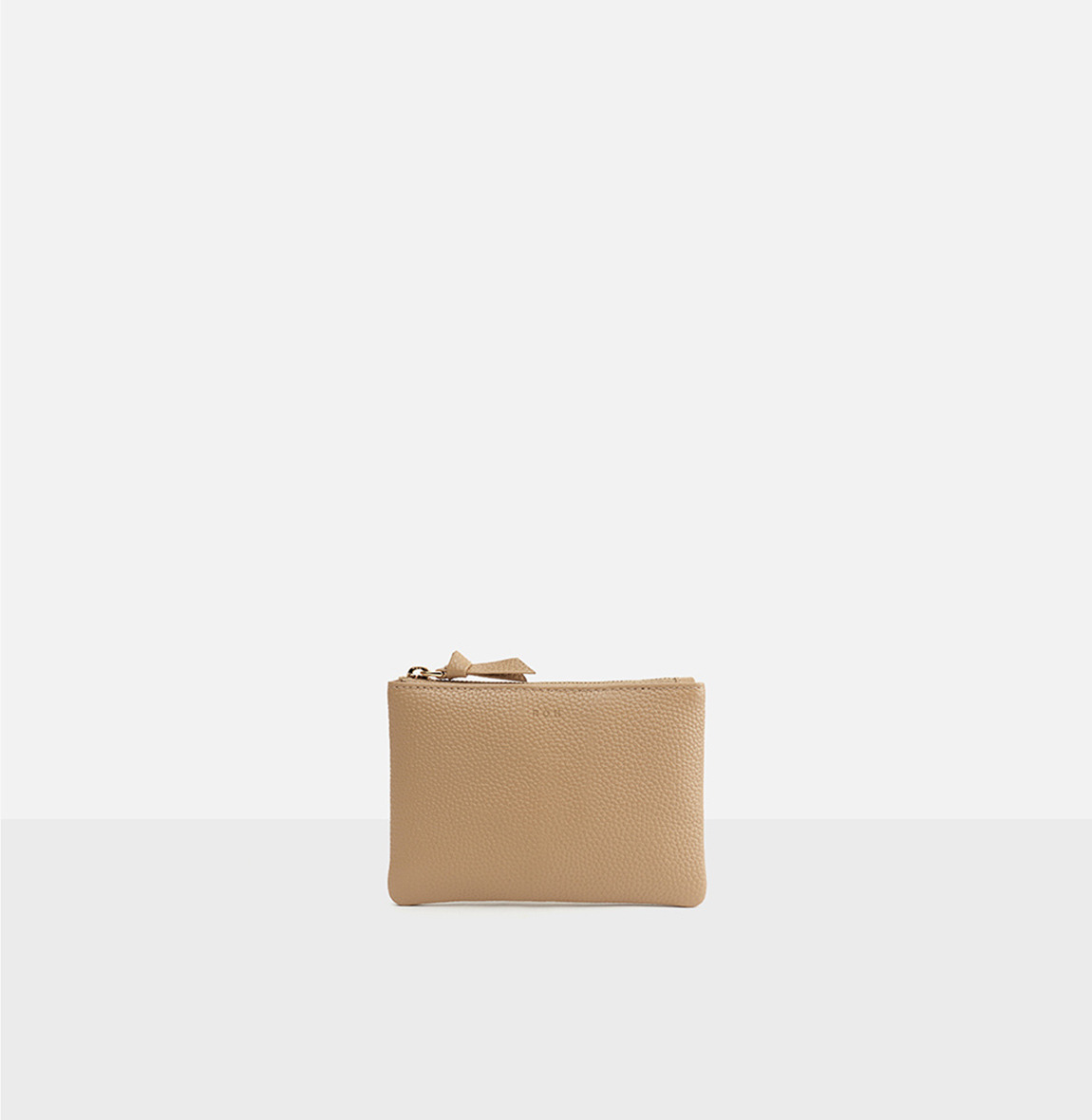 Square small zip wallet Lignt ocher ople