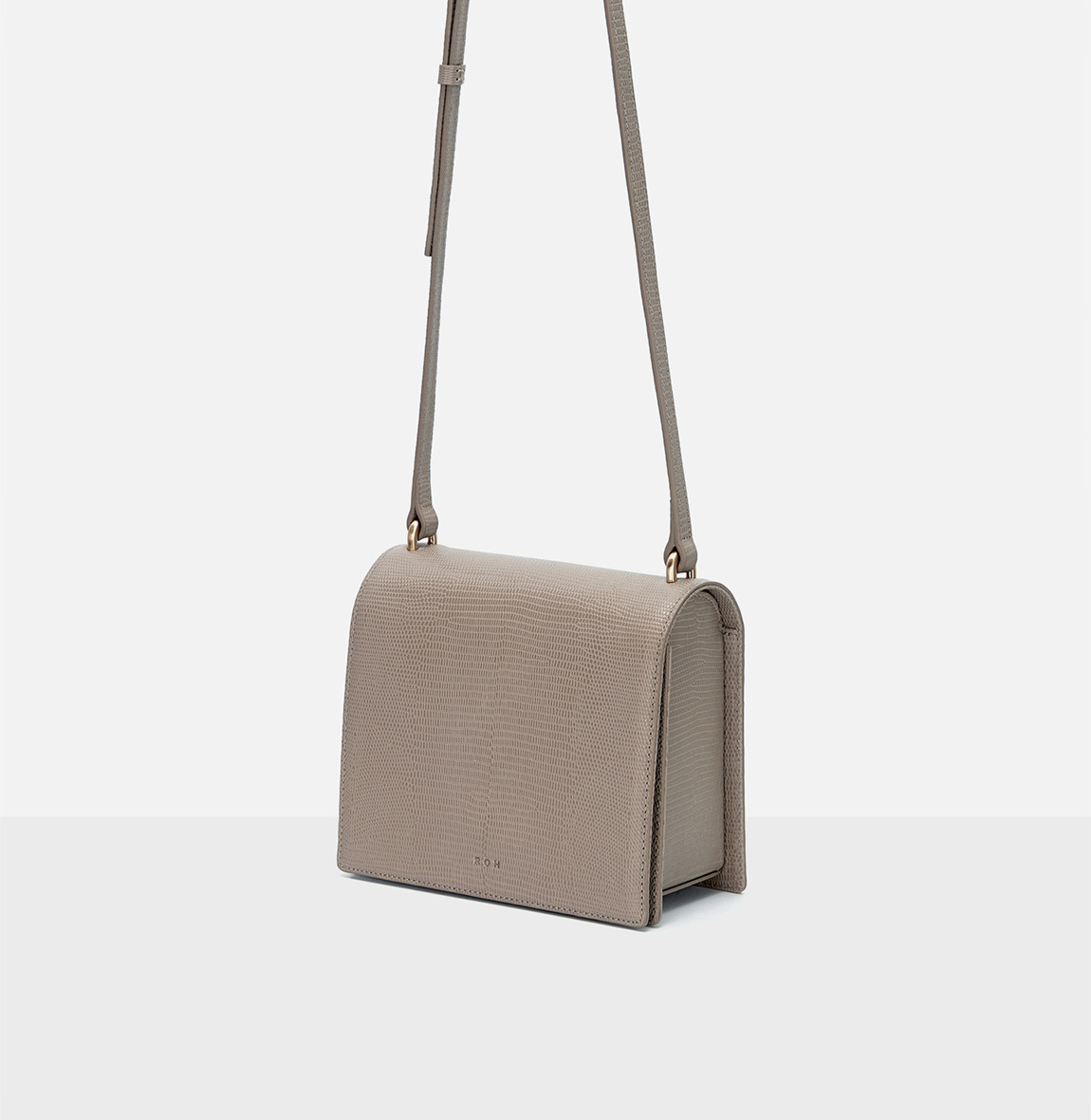 [19FW NEW]Caddy small shoulder bag Beige Lizard pattern
