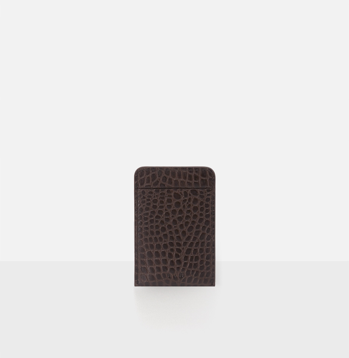 [19FW NEW] Basic card Holder Umber Crocodile pattern