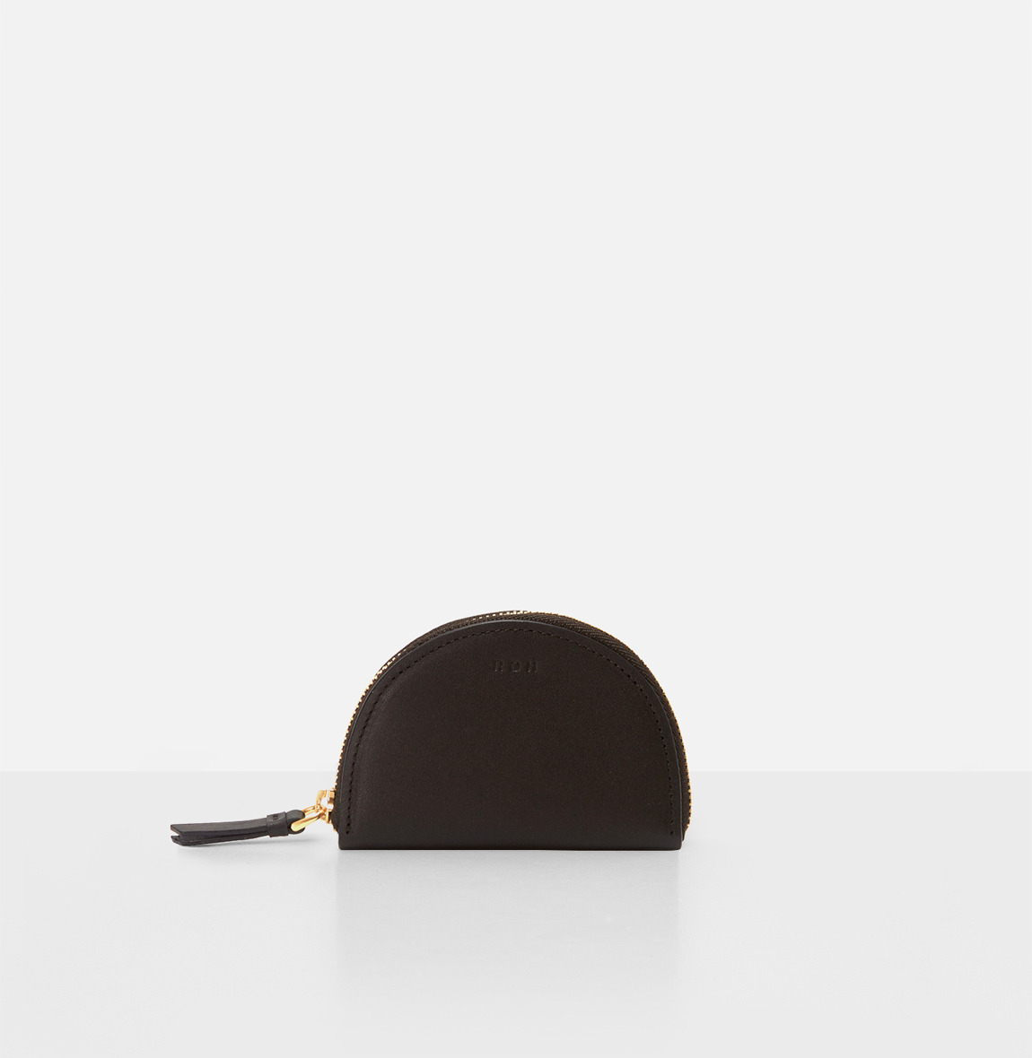 [19FW NEW] Half moon coin zip wallet Umber