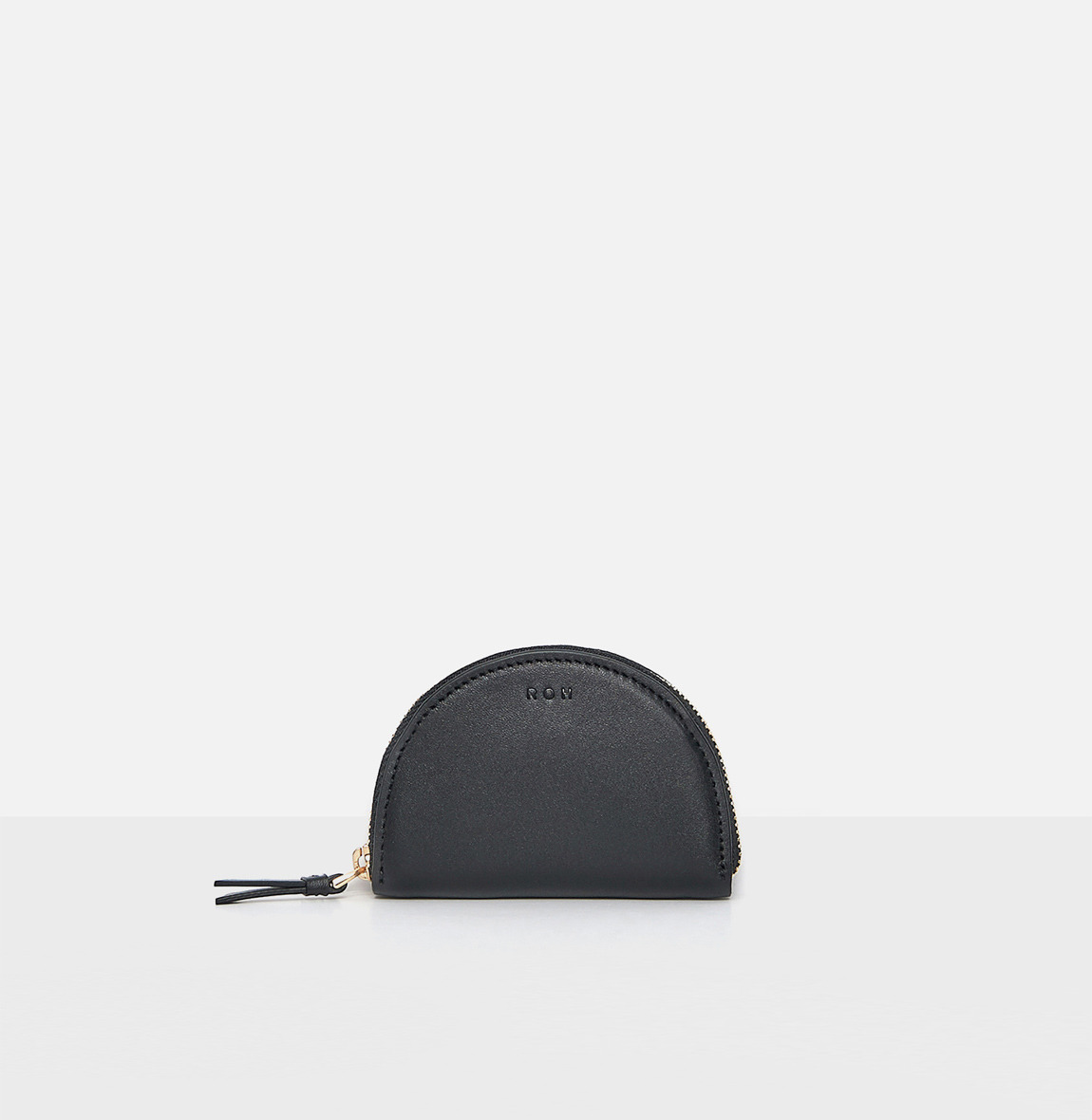 [19FW NEW] Half moon coin zip wallet Black