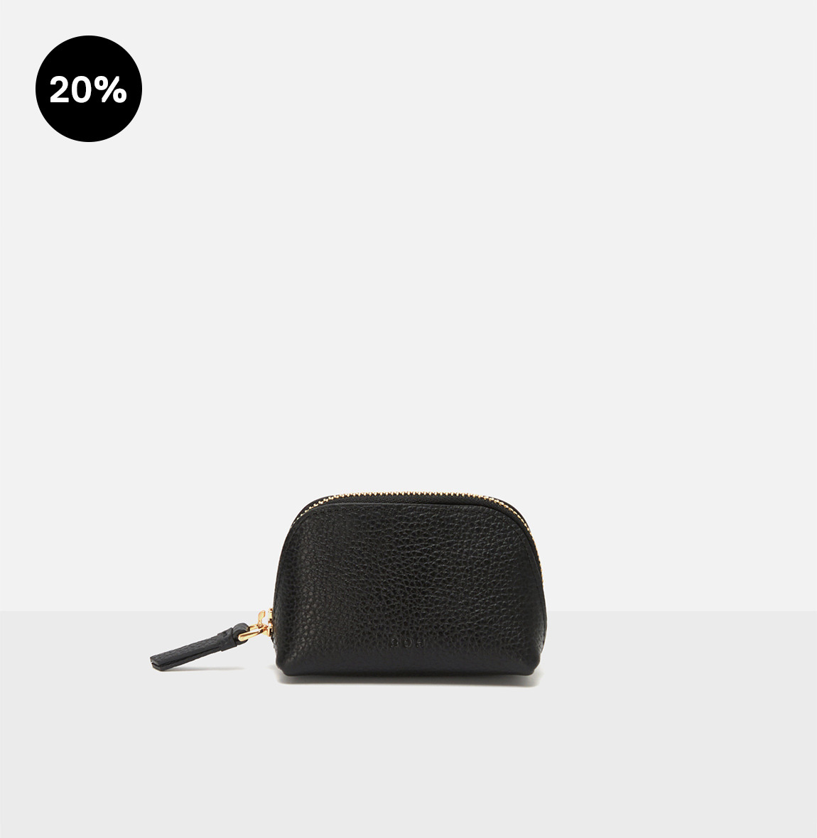 [19FW NEW] Aline small coin zip wallet Black Ople