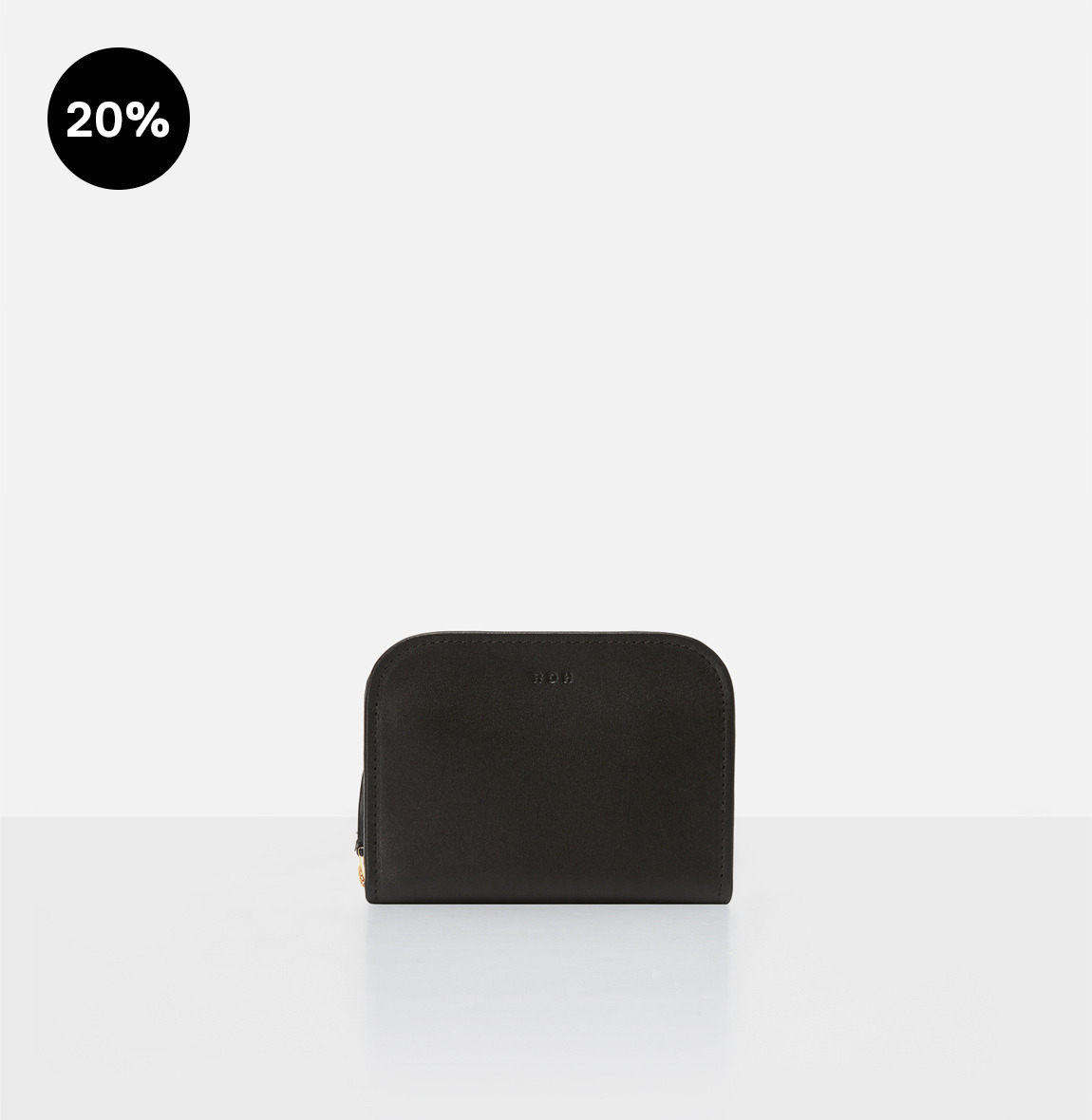 [19FW NEW] Around small zip wallet Black
