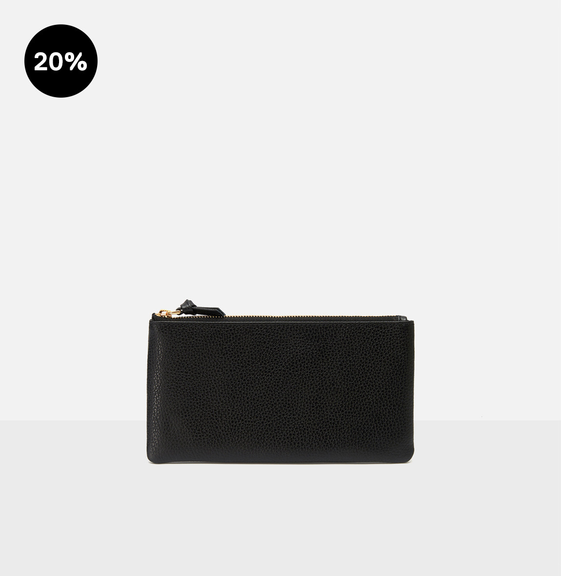 [19FW NEW]Square large zip wallet Black Ople