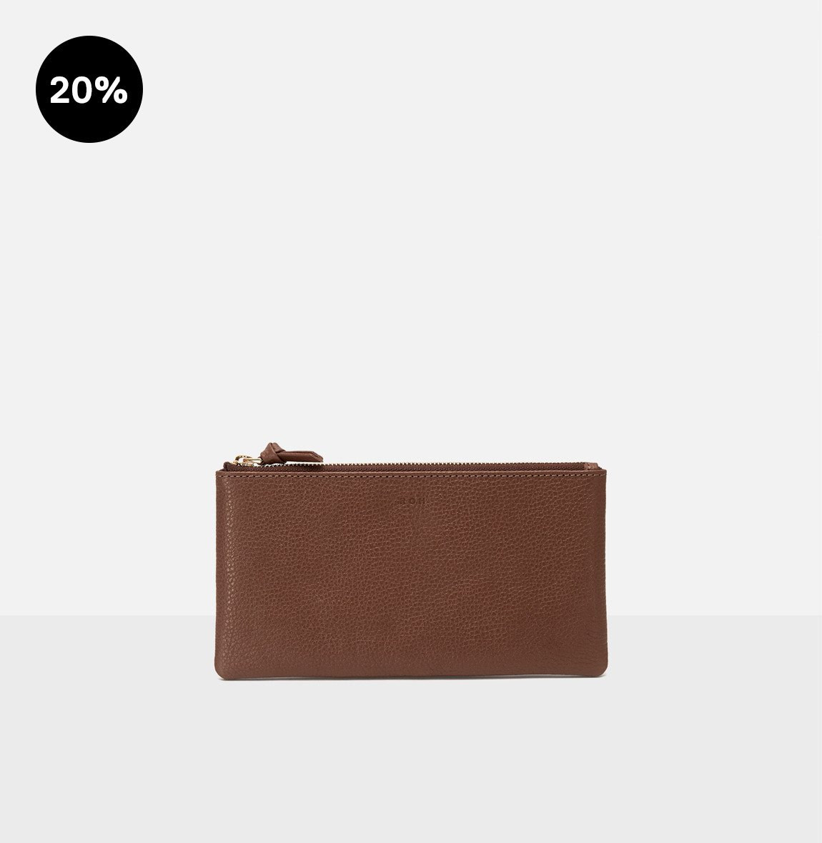 [19FW NEW]Square large zip wallet Smoky Tan Ople