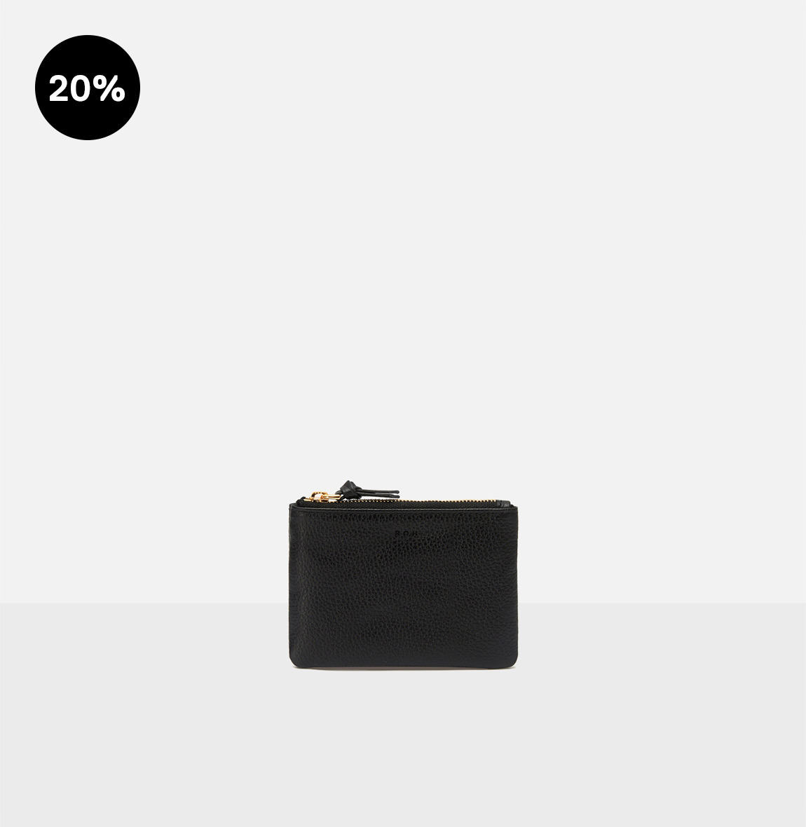 [19FW NEW] Square small zip wallet Black Ople