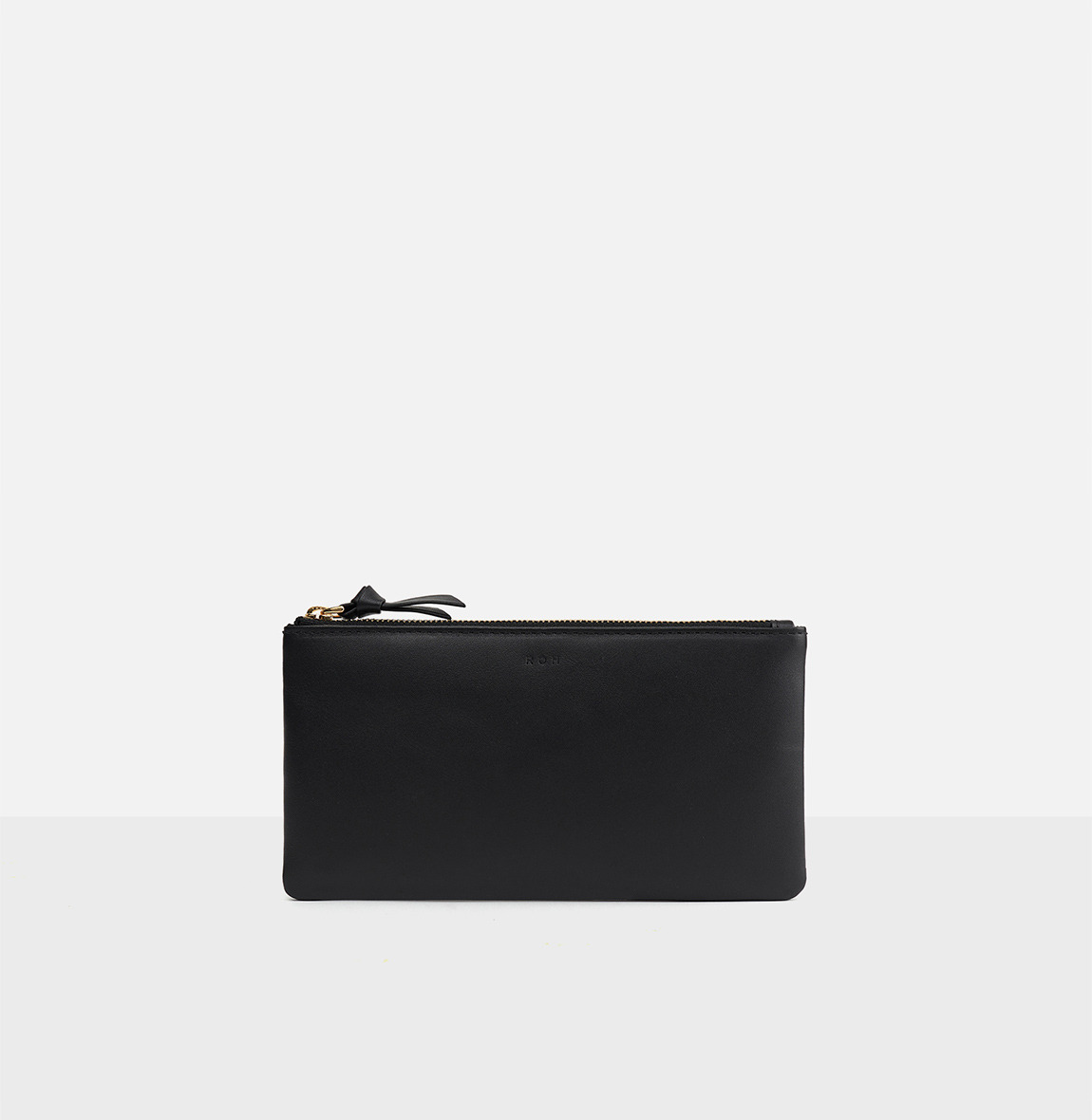 Square large zip wallet Black