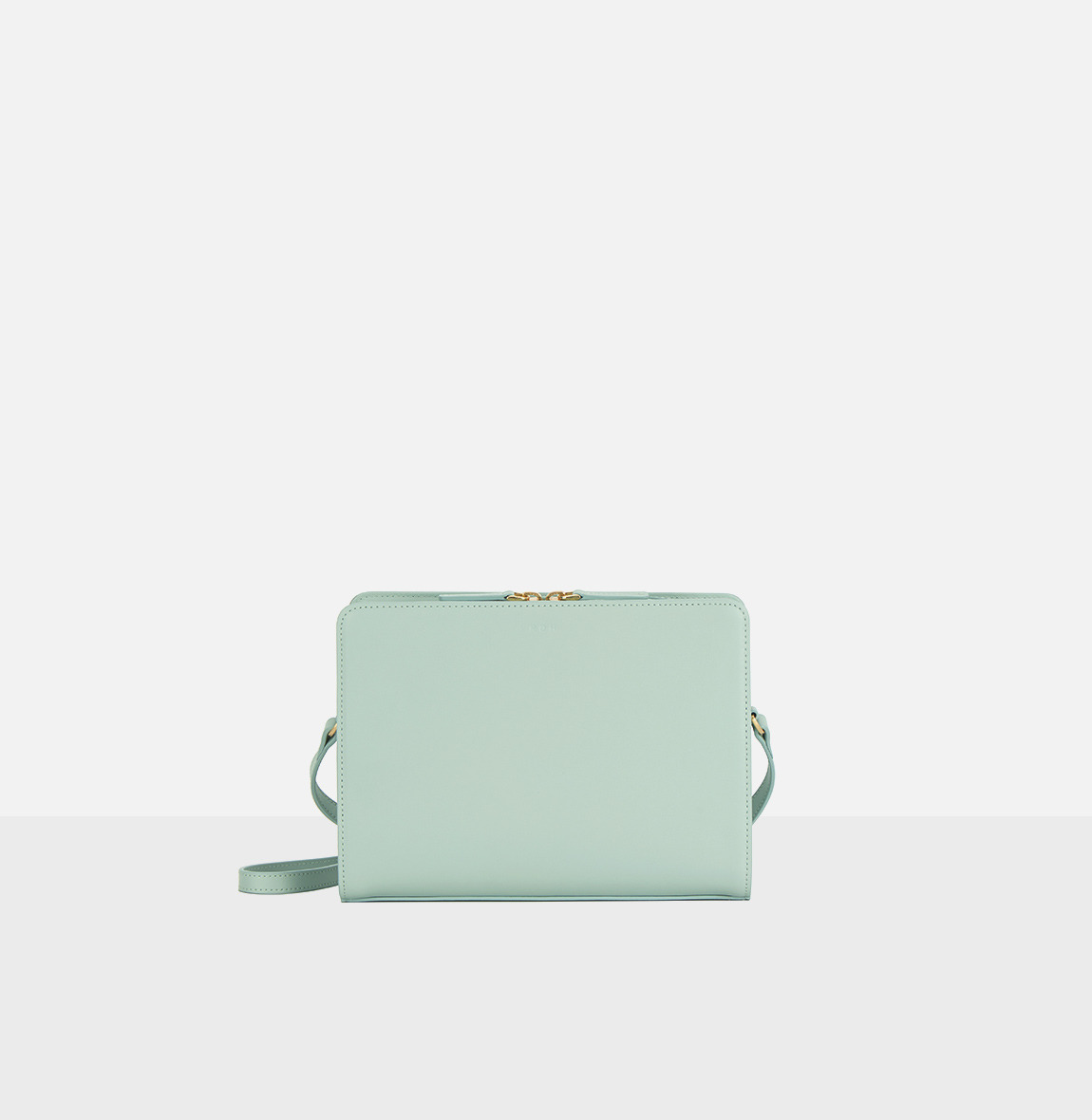 Square medium shoulder bag Dusty Mint