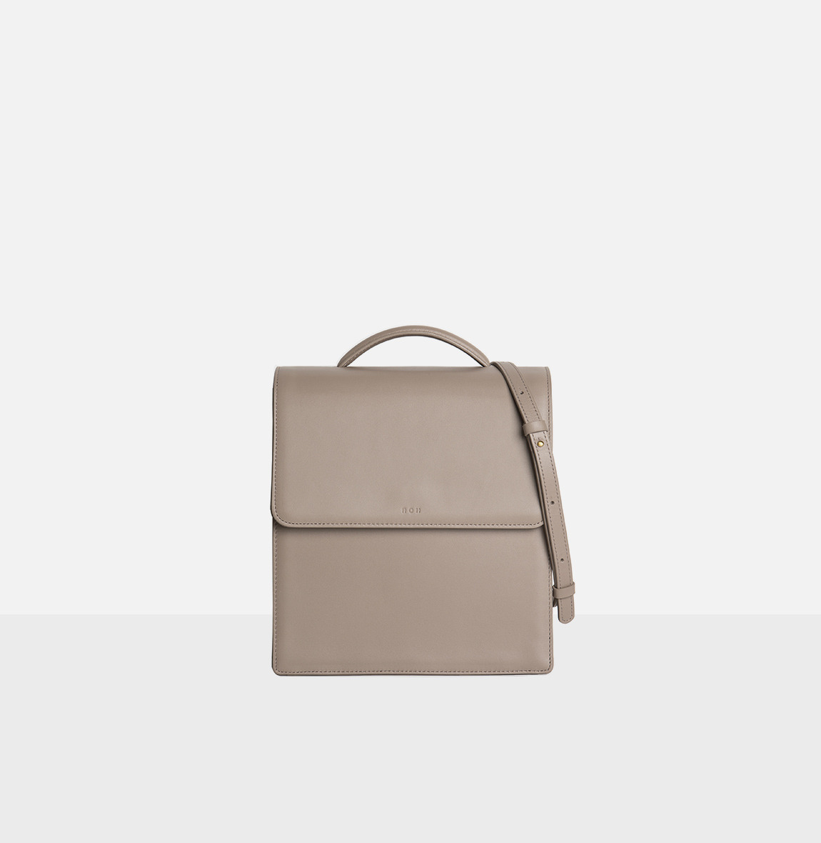 Flap medium satchel bag Beige