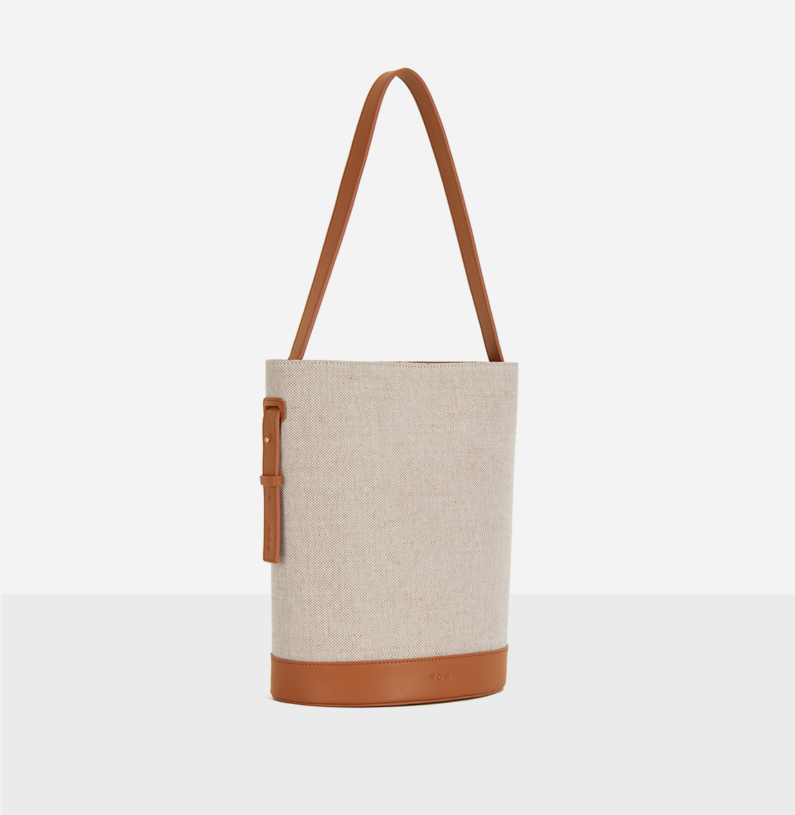 [20SS NEW]Juty fabric medium shoulder bag Creamy Tan