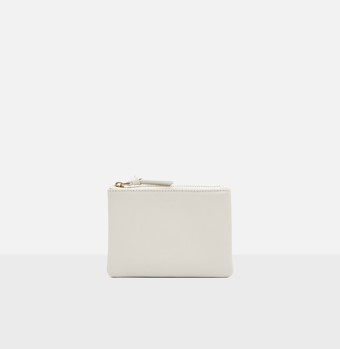 Square small zip wallet Ivory