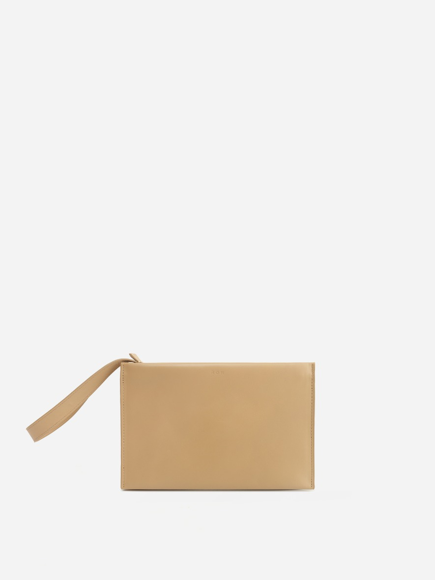 Double clutch bag Light ocher